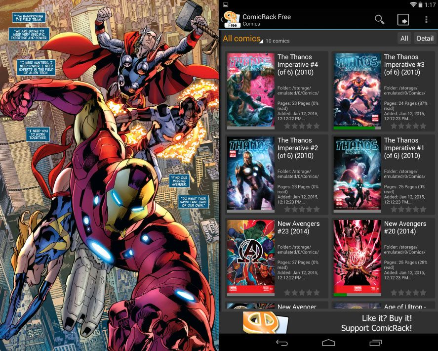 ComicRack, the best app for reading comics on Android