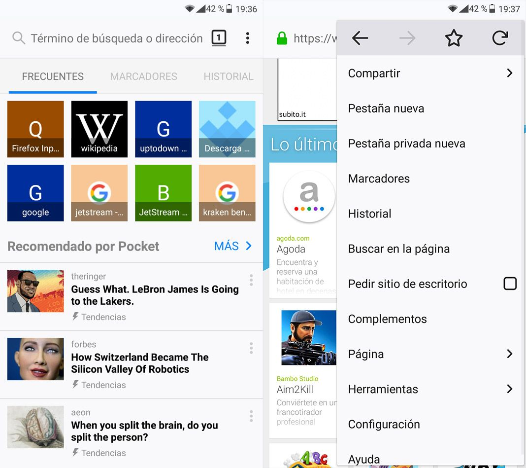 Estas são todas as variantes oficiais do Firefox para Android