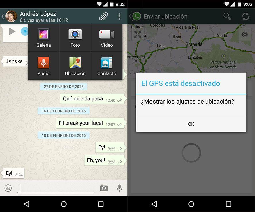 enviar direccion google maps whatsapp