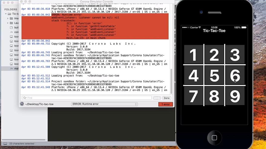 corona 2d Herramientas para crear videojuegos en Android