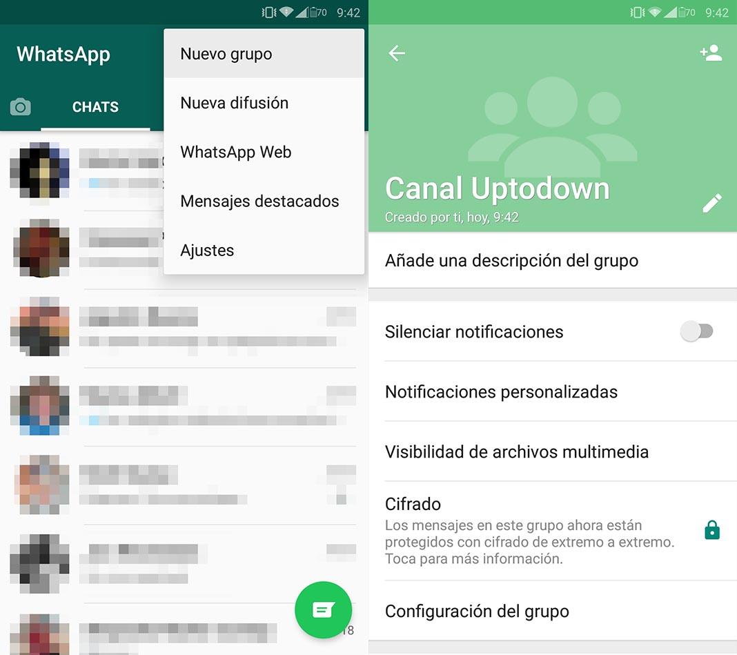 Como crear un grupo en WhatsApp