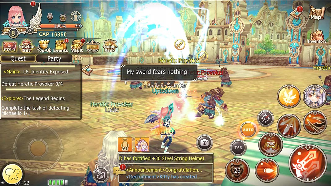 Crown Four Kingdoms screenshot mejores MMORPG Android