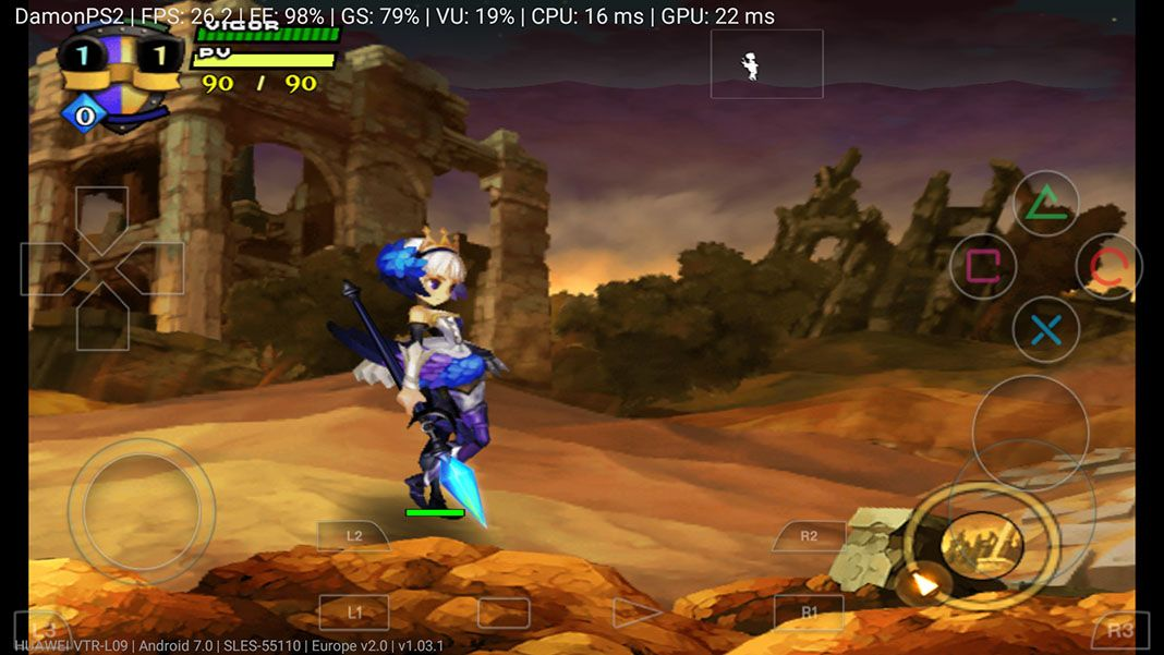 DamonPS2 is a real Playstation 2 emulator on Android