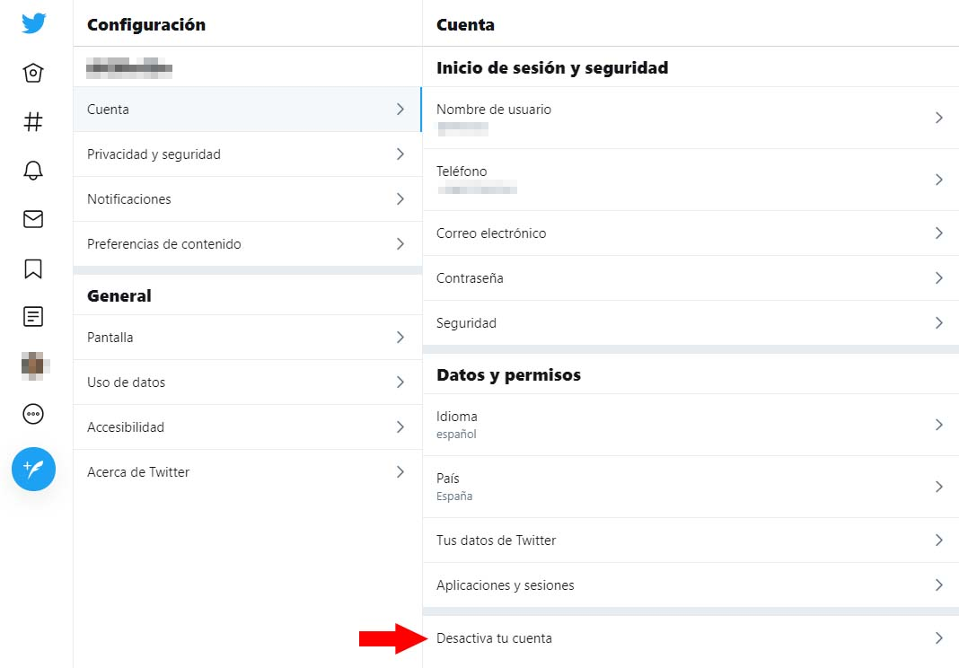 desactivar cuenta twitter Cómo desactivar tus cuentas en redes sociales