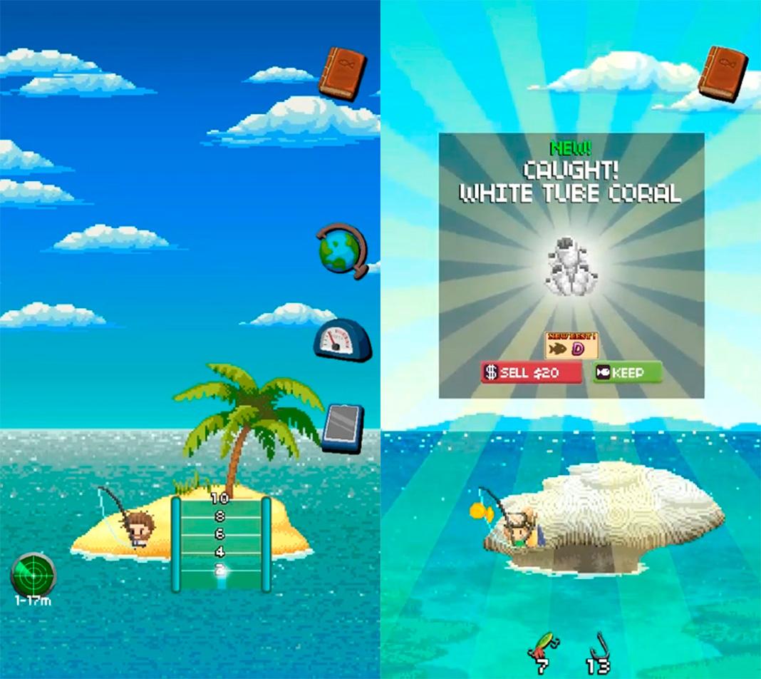 desert island screenshot Los mejores juegos de pesca para Android