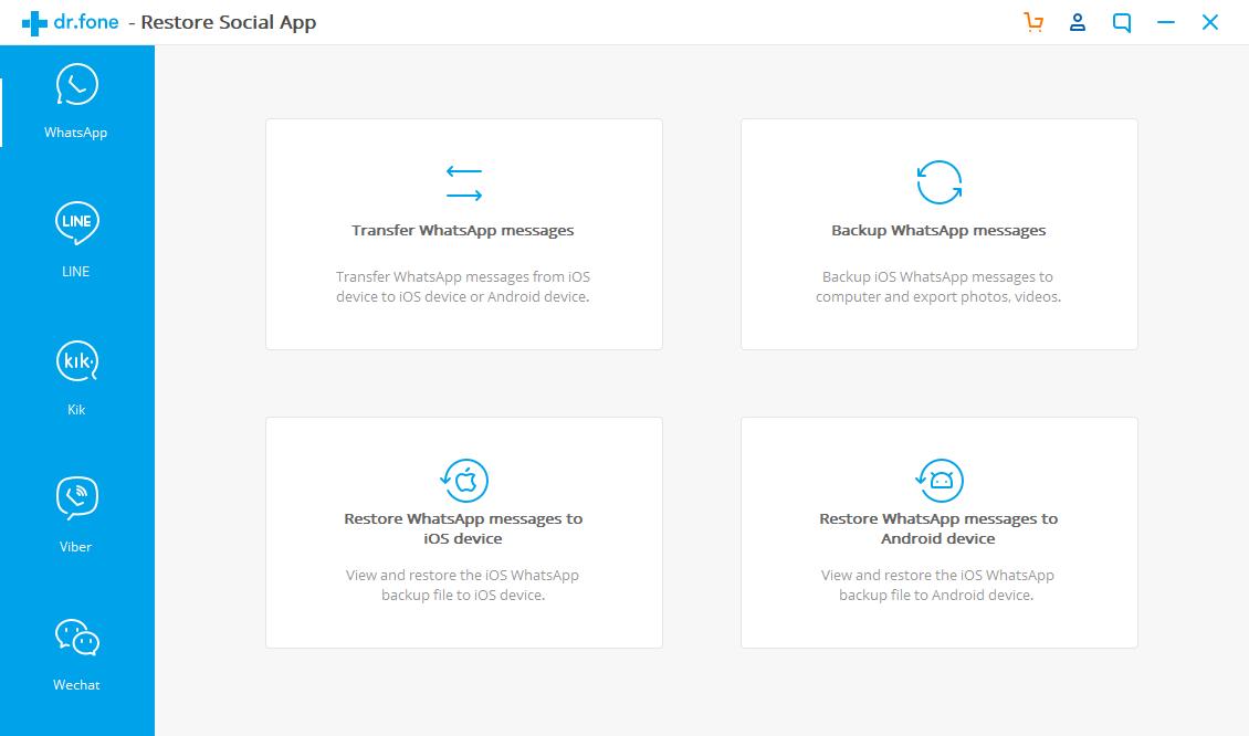 dr fone social apps Resuelve todos los problemas de tu smartphone con dr.fone