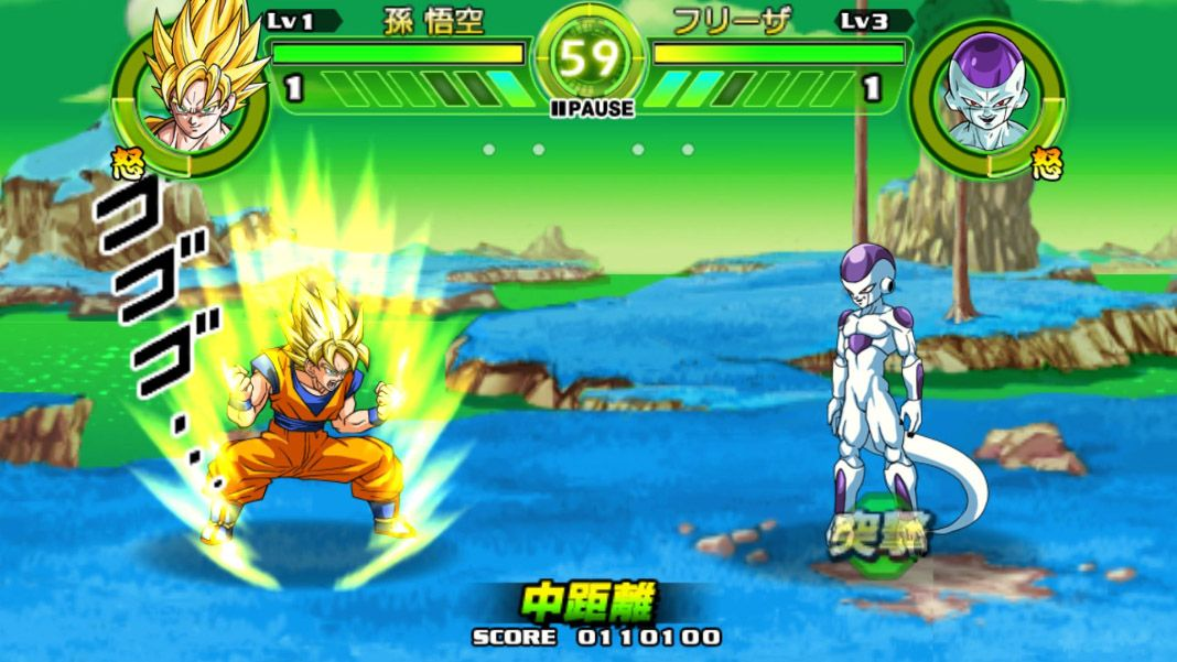 Dragon Ball Tap Battle. Freezer contar Goku