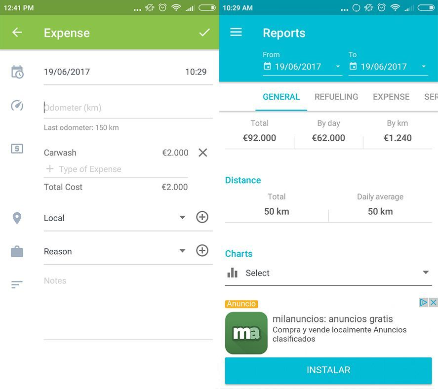 drivvo screenshot 2 en Drivvo makes managing your vehicle costs a piece of cake