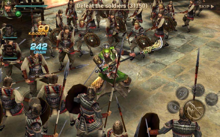 dynasty warriors unleashed screenshot 1 Ya disponible Dynasty Warriors Unleashed para Android