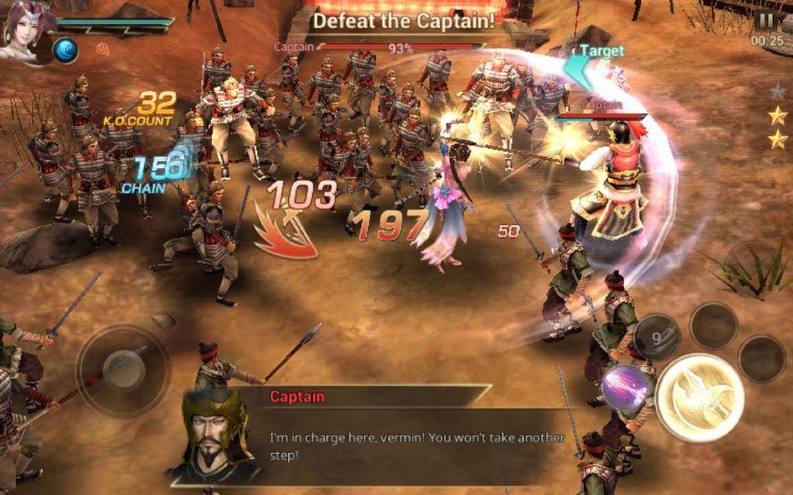 dynasty warriors unleashed screenshot 2 Ya disponible Dynasty Warriors Unleashed para Android
