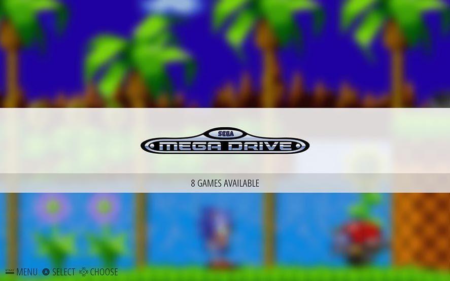 Emulationstation Mega Drive Menú