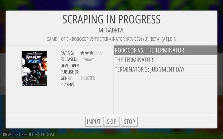 Emulation Statiuon Scraping in Progress