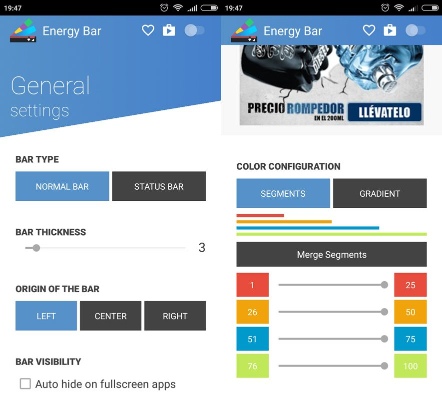 Energy Bar Android
