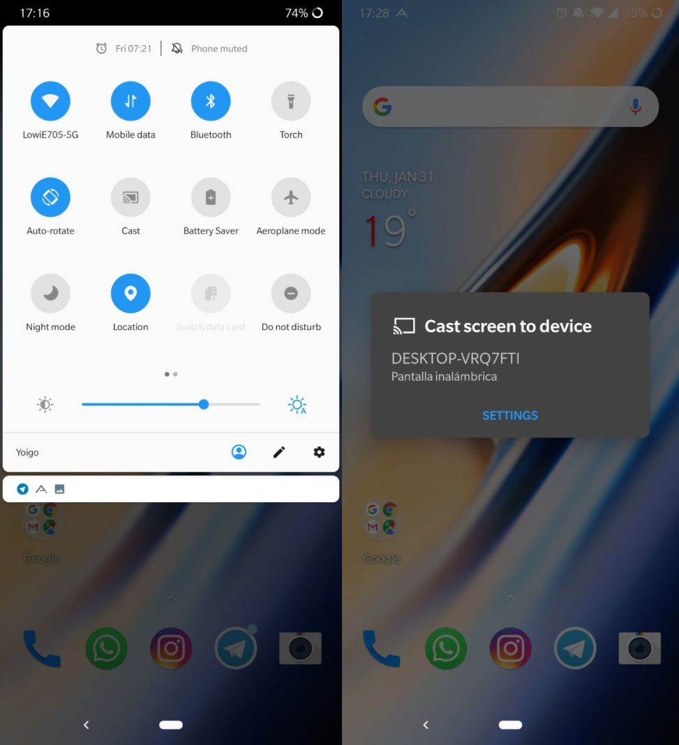 enviar pantalla android en How to easily cast your Android's screen on another device
