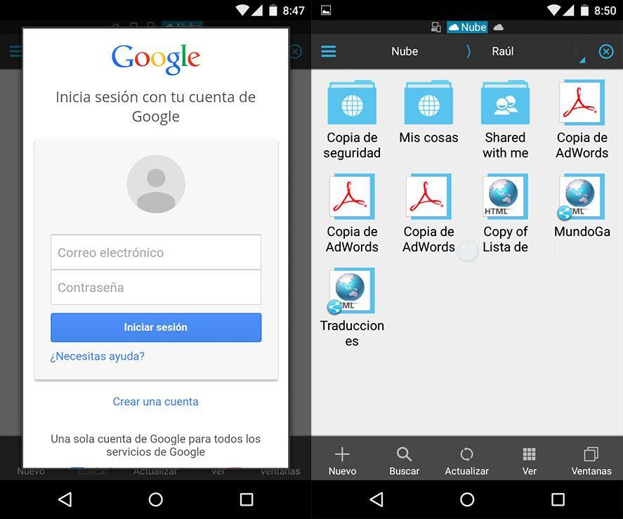 Accede a carpetas remotas en Android con ES File Explorer