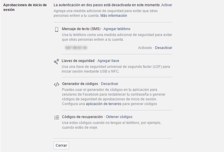 facebook autentificacion Qué es y cómo activar la verificación en dos pasos en tus apps