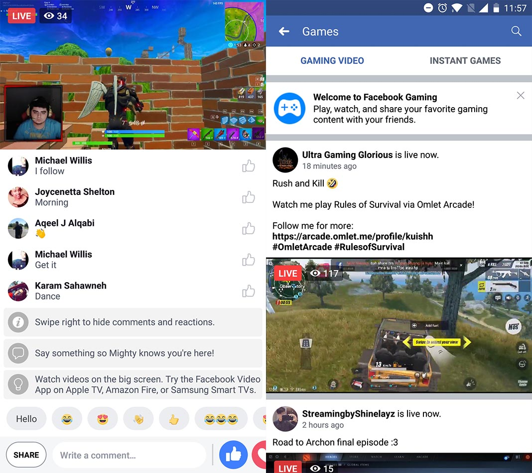 Facebook aims to compete with Twitch with its own live