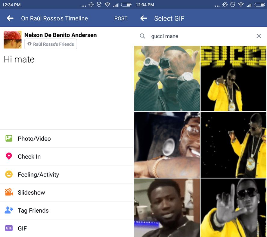 facebook gif screenshot en Facebook now lets you search for GIFs in the comments