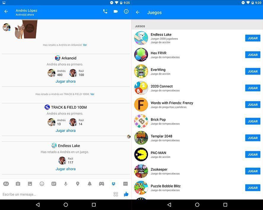 Llegan Los Juegos A Facebook Messenger