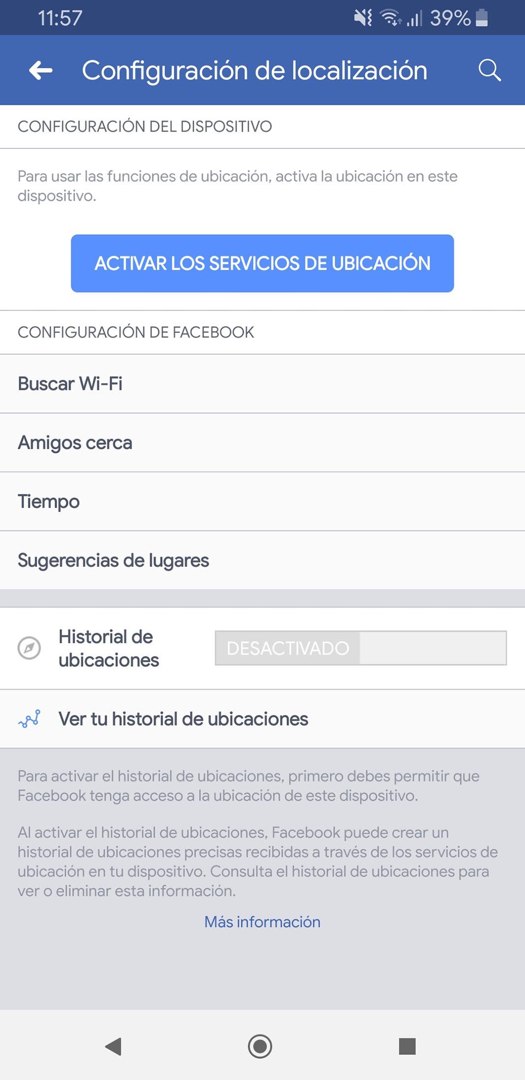 facebook localizacion Cómo evitar que la app de Facebook rastree nuestra ubicación en segundo plano
