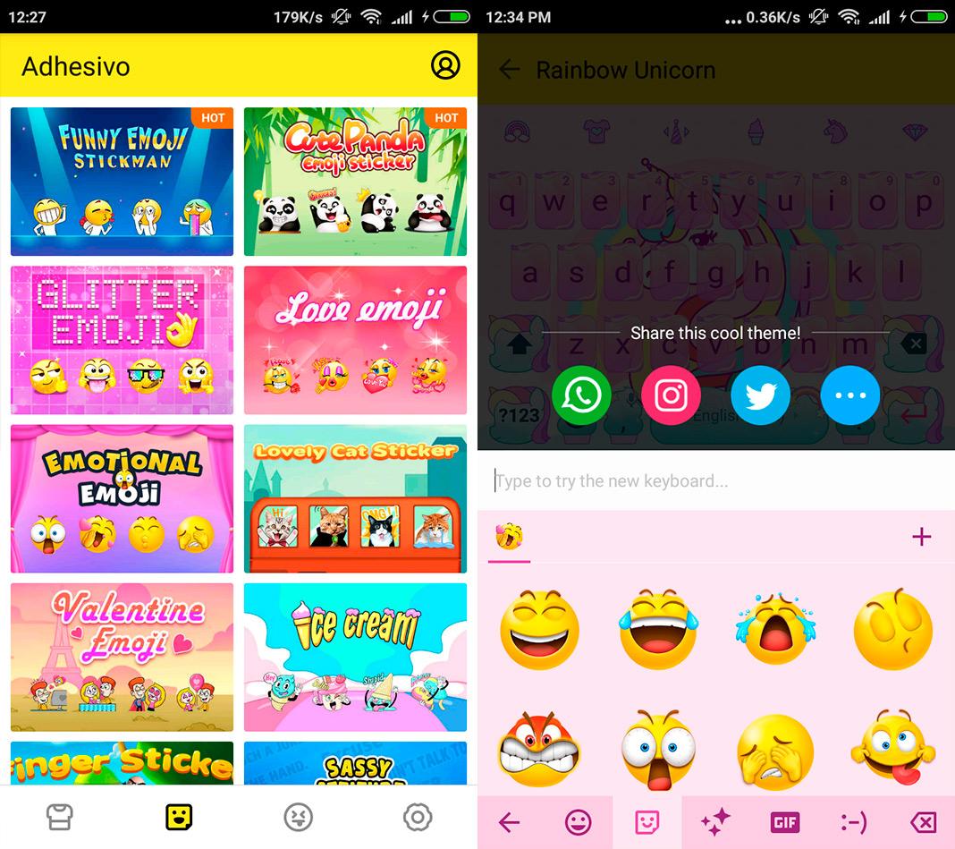 facemoji screenshot en Five Android keyboards to celebrate World Emoji Day 2018