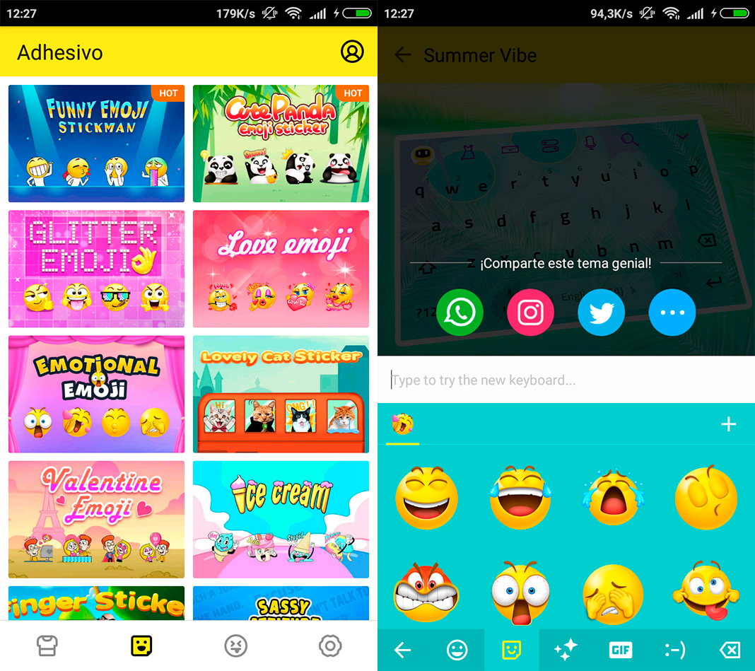 facemoji screenshot Cinco teclados de Android para celebrar el World Emoji Day 2018