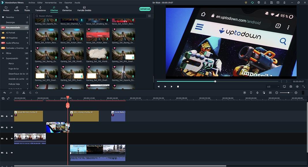filmora interface 1 Wondershare Filmora X: Una completa suite de edición de vídeo apta para todo tipo de usuarios