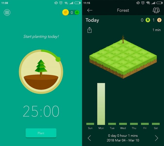 forest screenshot The best apps to help you be more productive