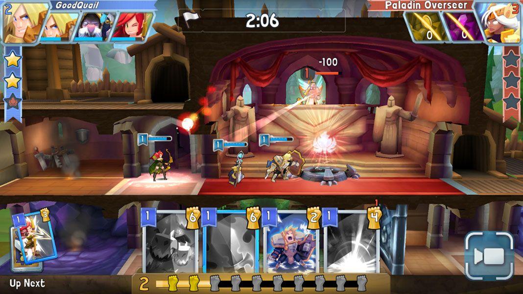 fortress of champions screenshot 1 Fortress of Champions: asedios, cartas y construcción de castillos