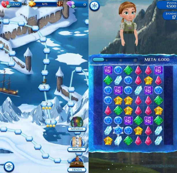 frozen free fall screenshot The best games for children on Android