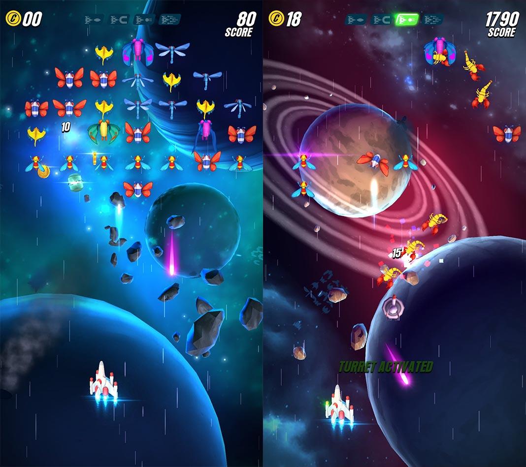 galaga screenshot Videojuegos clásicos que hoy puedes disfrutar en Android