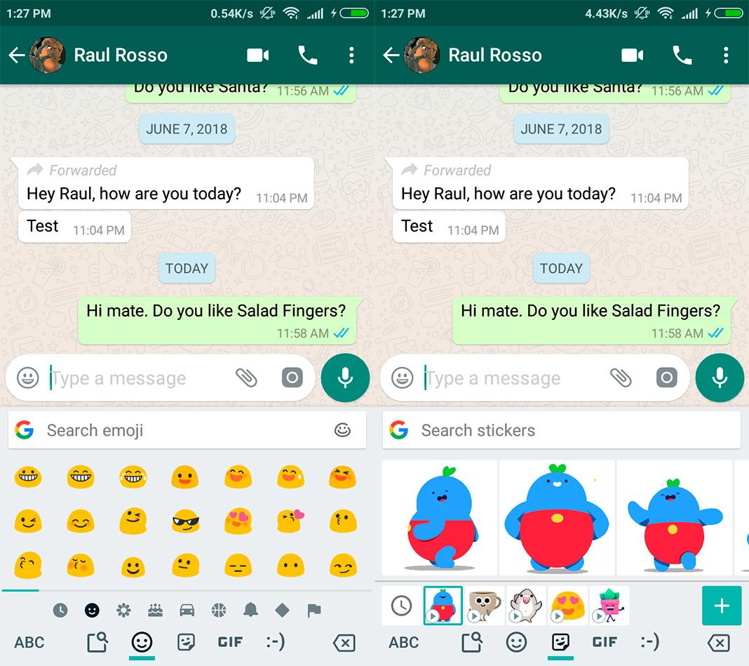 gboard screenshot en Five Android keyboards to celebrate World Emoji Day 2018