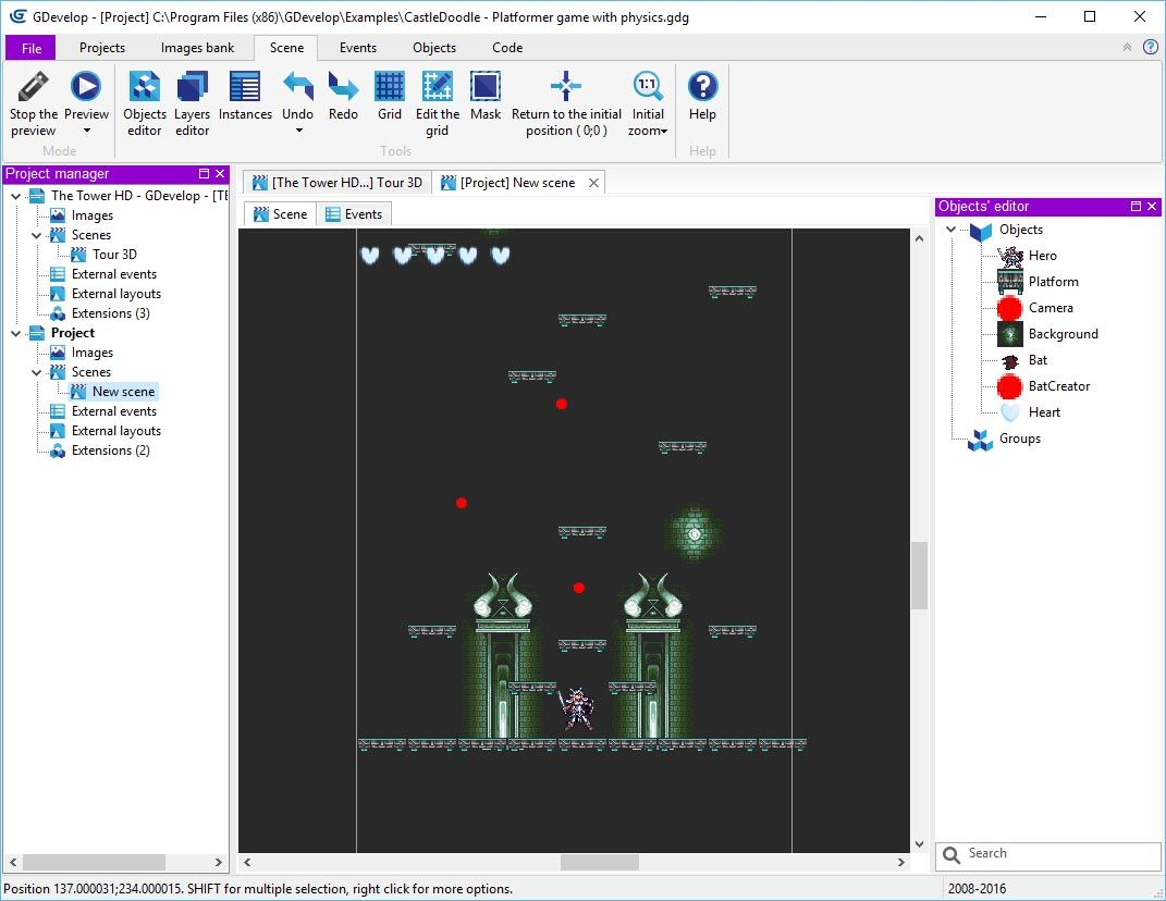 gdevelop screenshot 1 Herramientas para crear videojuegos en Android