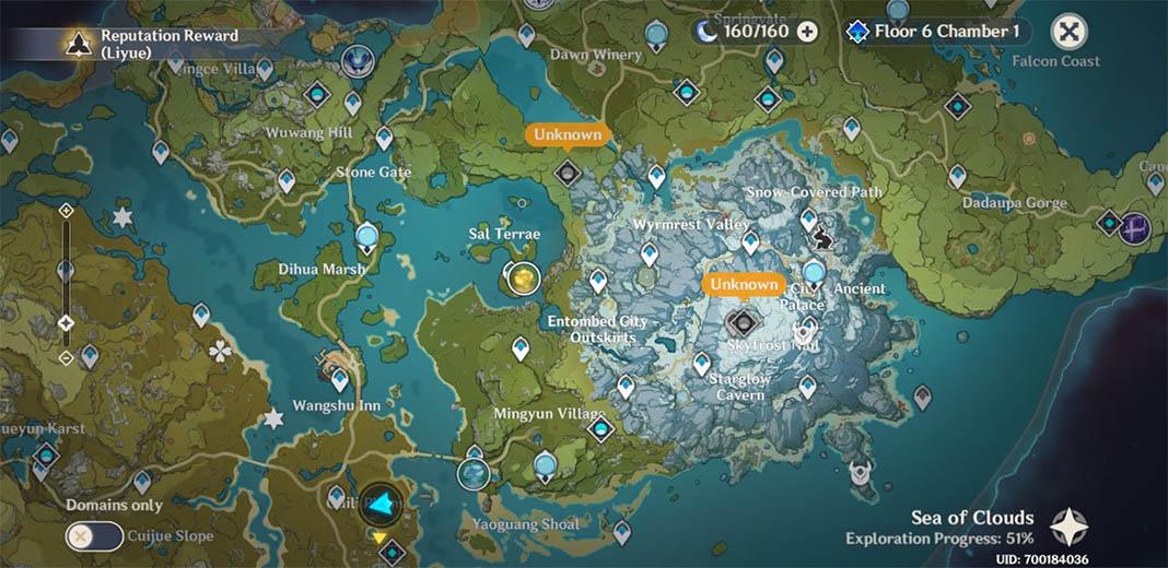 Teyvat Mapa