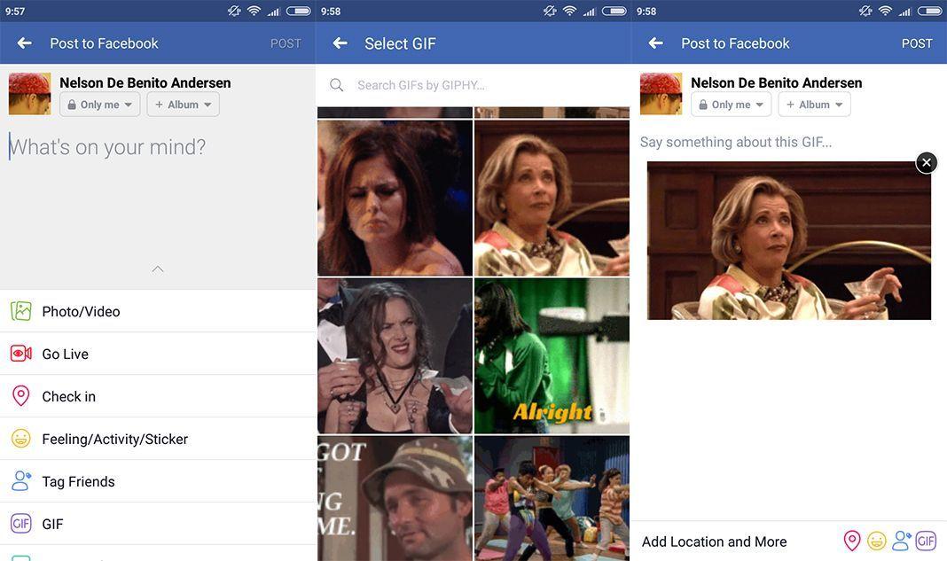 Como publicar GIFs no Facebook