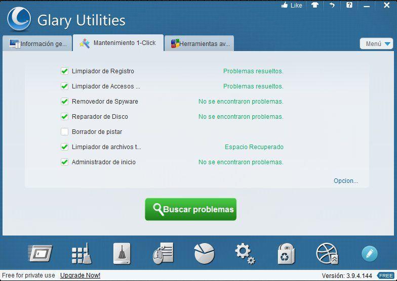 glary utilities interfaz