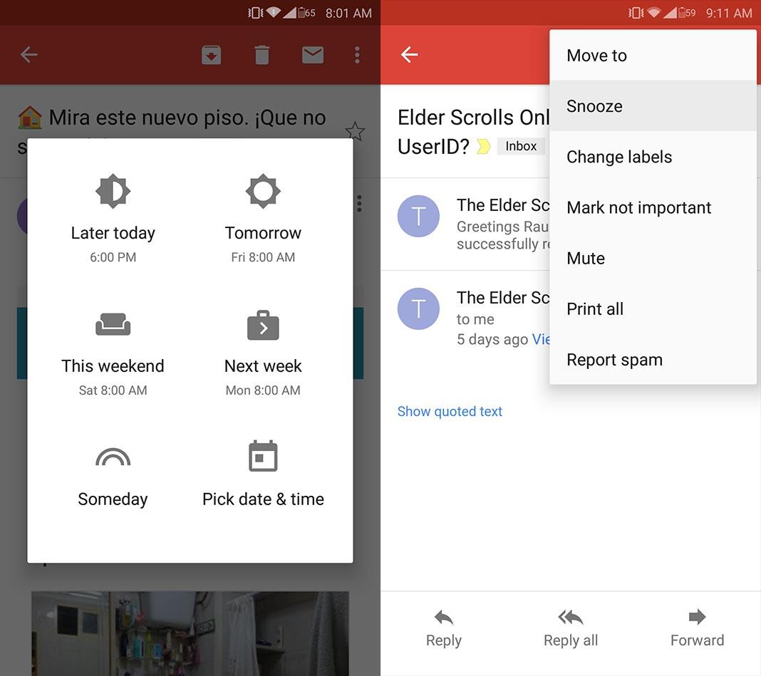 gmail postponer Cómo postponer un correo en Gmail