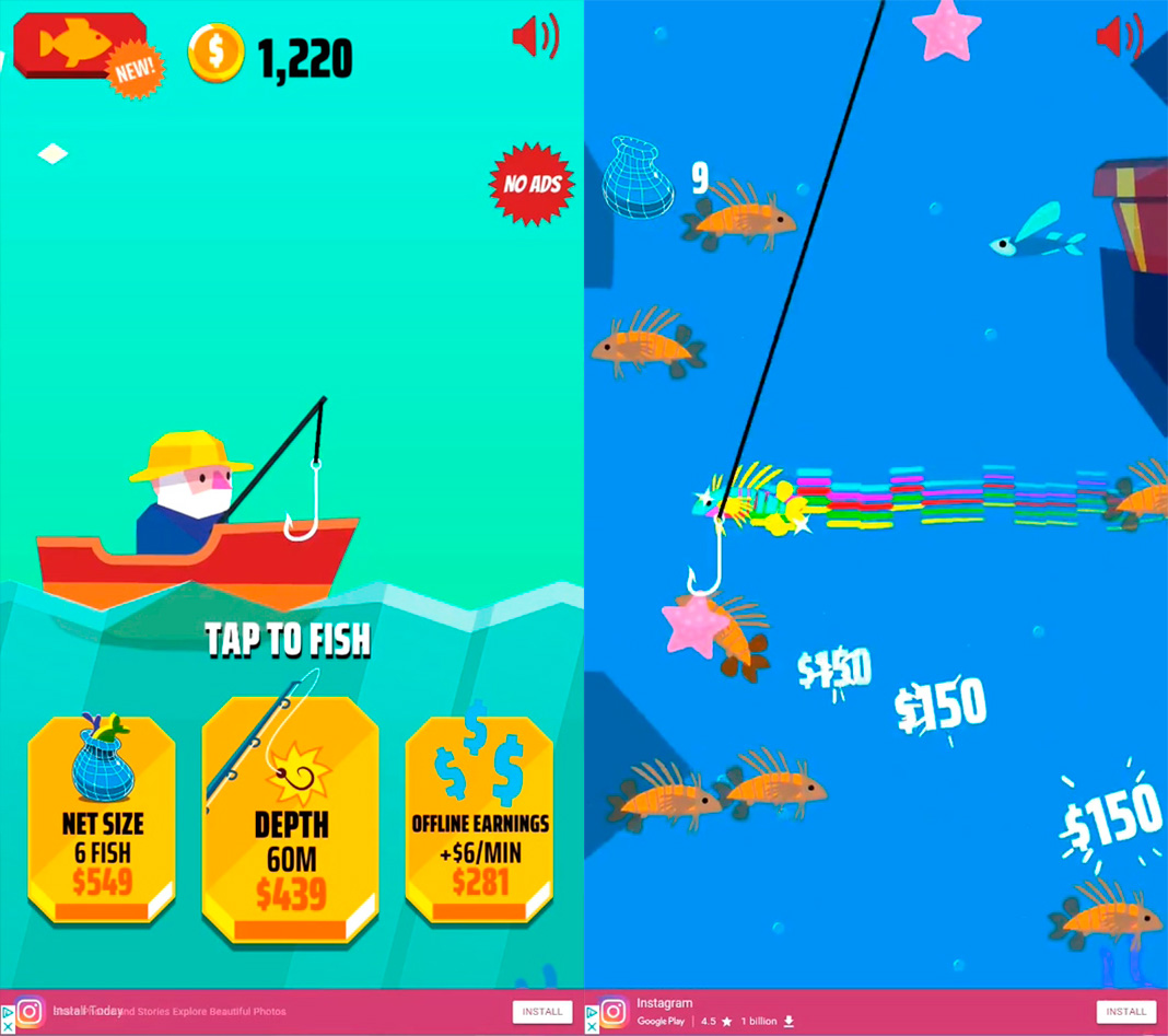 go fish screenshot Los mejores juegos de pesca para Android