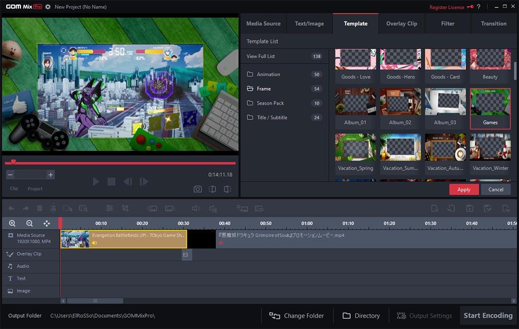 gom mix screenshot 5 GOM Mix Pro: cómo crear montajes de vídeo en menos de 10 minutos