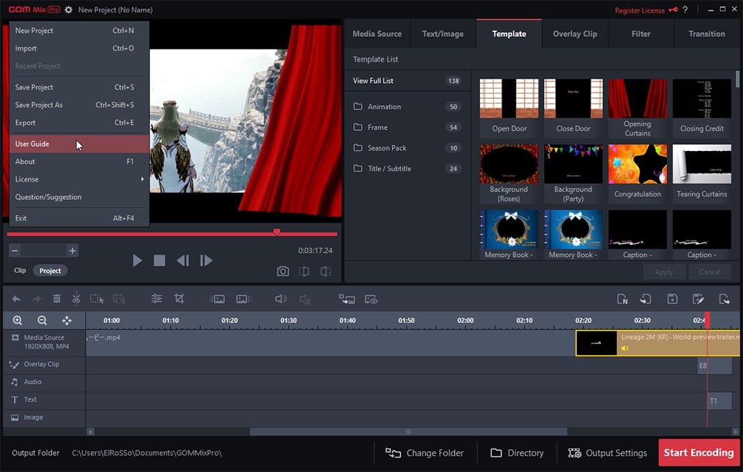 gom mix screenshot 7 GOM Mix Pro: cómo crear montajes de vídeo en menos de 10 minutos