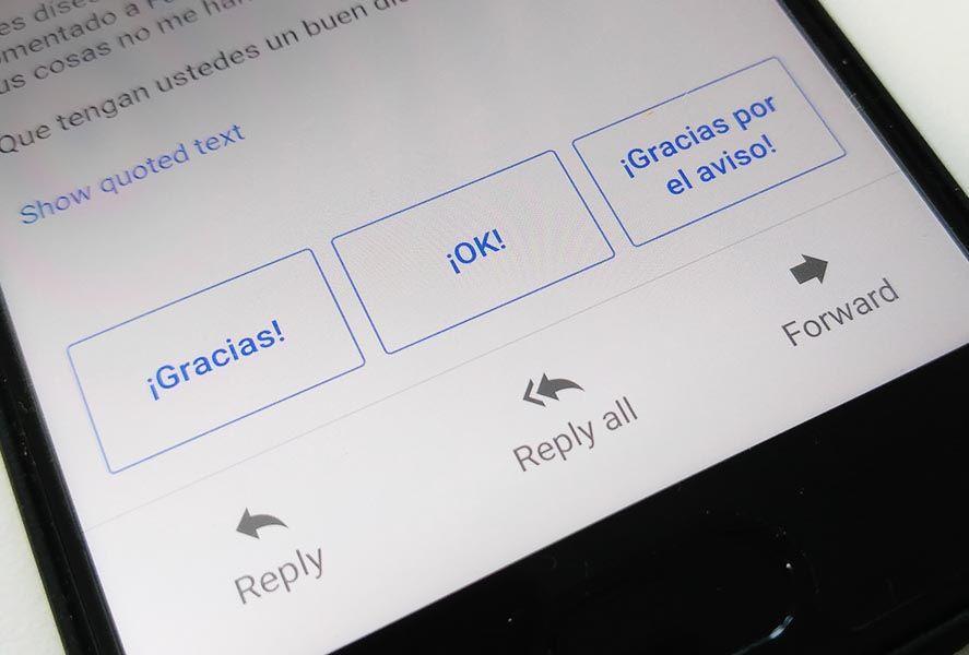 google botopnes Las respuestas inteligentes de Gmail ya están disponibles en español