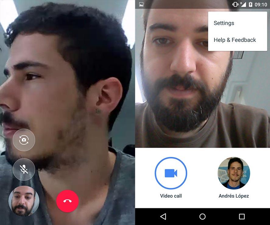 google duo screenshots Mensajería de Google: ¿Cuál es la situación de Hangouts, Allo y Duo?