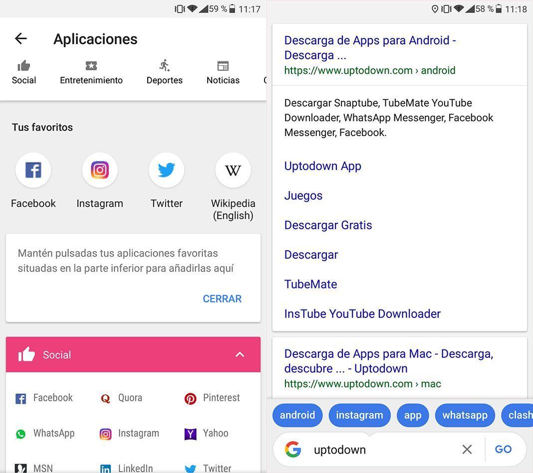 google go screenshot 2 Google lanza una app lite para Android de su propio buscador
