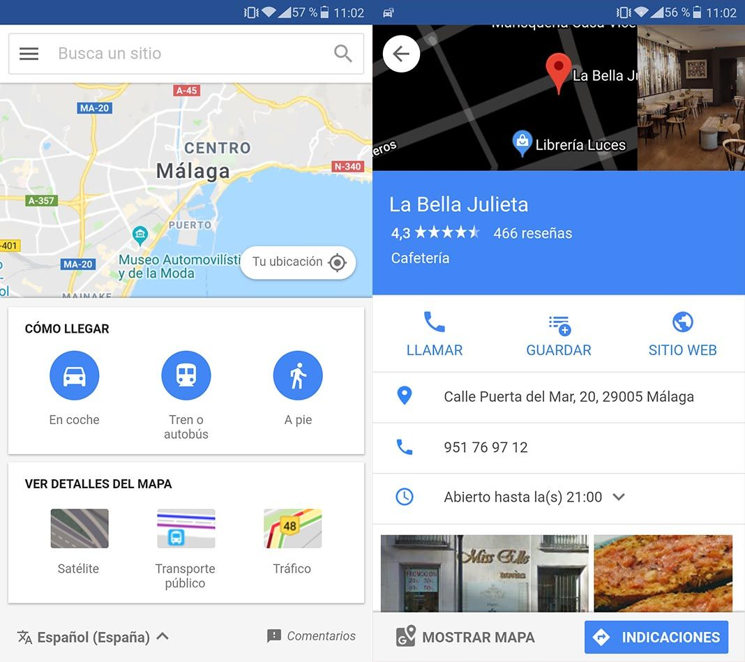 google maps go screenshots Cómo utilizar Maps GO, la nueva versión Lite de Google Maps