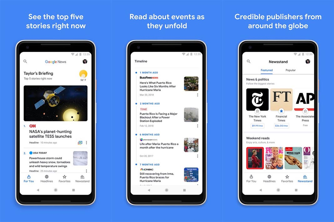 google news screenshots 1 The top 10 Android apps of the month [May 2018]