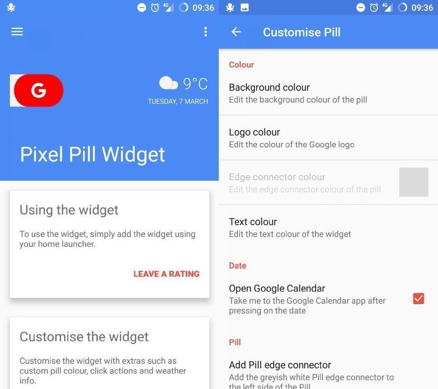 google pill widget screenshot Cómo añadir el Pixel Pill de Google a cualquier capa de personalización