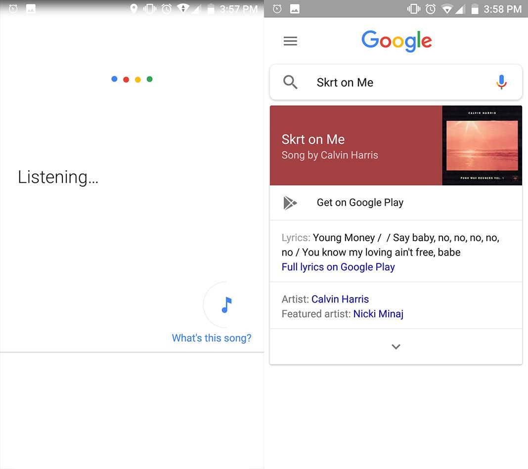 google shazam screenshot en Five (+1) free alternatives to Shazam for Android