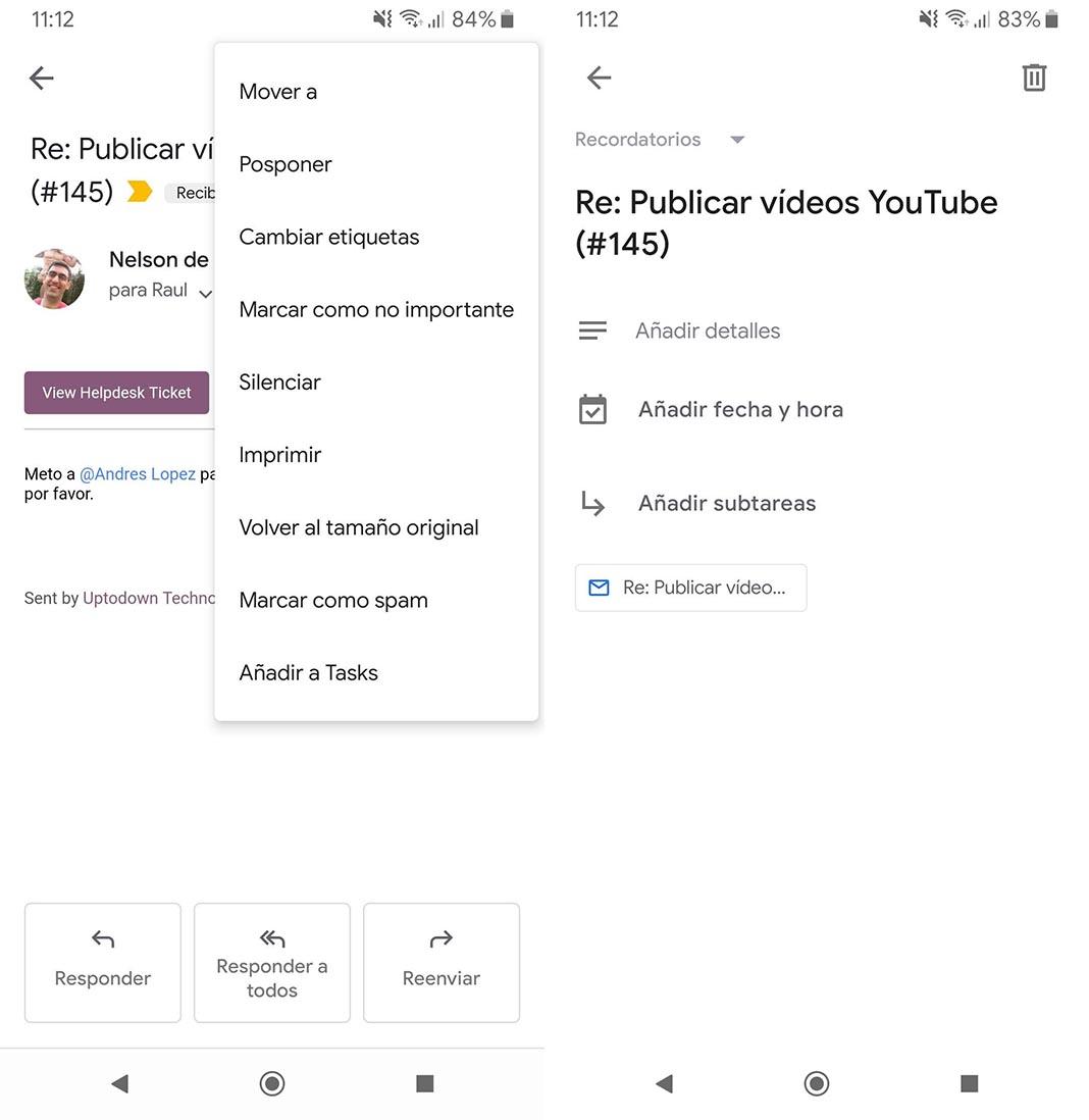google tasks screens Google Tasks se integra (por fin) con la app de Gmail