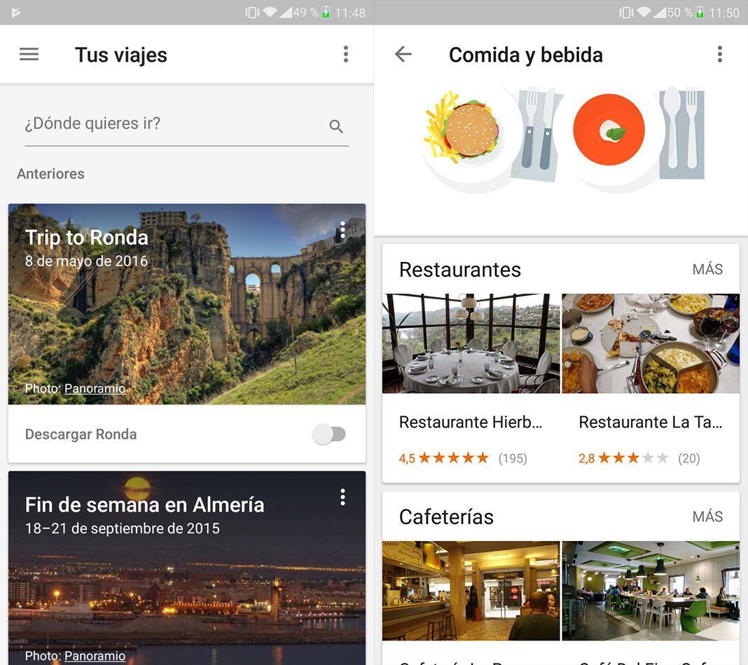 google trips screenshots espanol Google Trips te recomienda qué visitar cuando viajas [ahora en español]