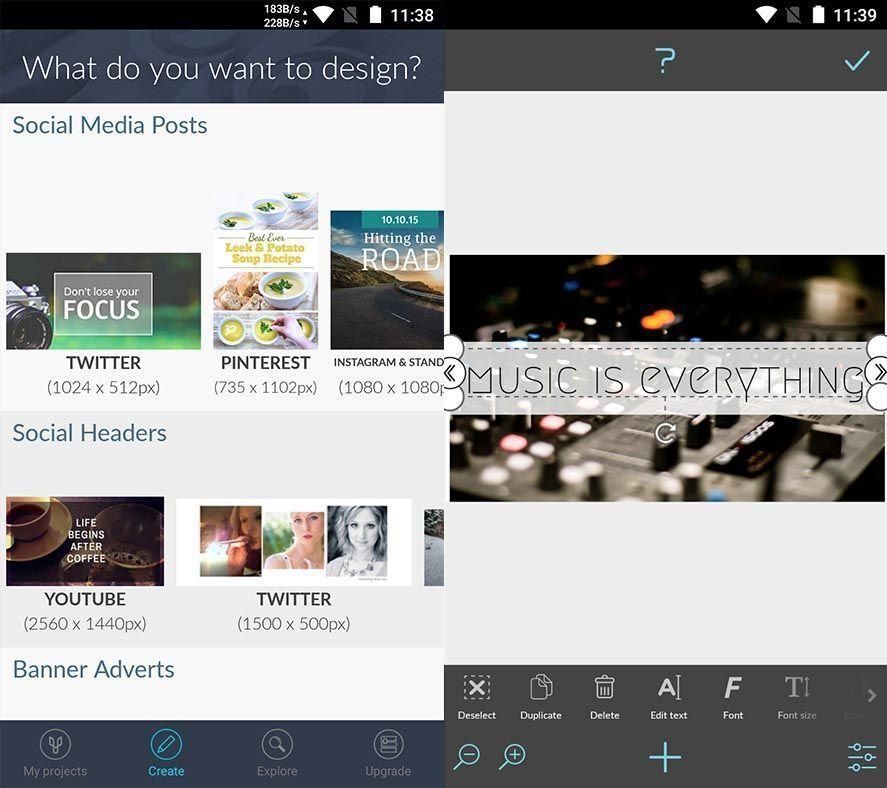 graphic design desygner Diez apps Android de diseño gráfico